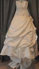Eve of Milady Wedding Dress Ballgown 4216 Cathedral Silk Satin Sz 8 Street 4/6