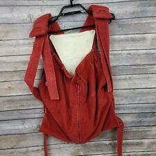 Vintage VTG Snugli Baby Carrier Handmade Red Corduroy W/ Bib