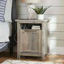 Better Homes & Gardens Modern Farmhouse USB Nightstand, Rustic Gray