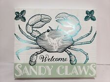 Gorgeous Christmas Welcome Sandy Claws Crab Wall Home Decor