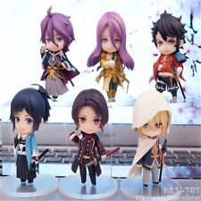 6pcs Set Anime Touken Ranbu Online 1st Squad PVC Figure New In Box