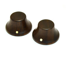 NEW Rosewood Bell GUITAR KNOBS Control for Fender Stratocaster Strat Push On