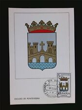 SPAIN MK ESCUDO PONTEVEDRA WAPPEN BLAZON MAXIMUMKARTE MAXIMUM CARD MC c5968