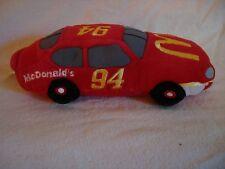 "NASCAR Beanie Racers PJ Toys Plush Race Car #94 8"" McDonalds Soft Car"
