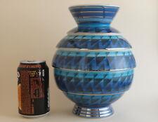 Signed Plant & Tinsley Moorland (Chelsea Works, Burslam) Blue Vase