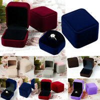 HN- Jewelry Earring Ring Display Storage Exaggerate Square Lid Open Box Case Chr