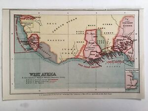West Afr, Stations Of The Wesleyan Missionary Society Antique Map c1900, Rare