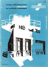 Depliant Brochure Innocenti Presse Automatiche per Stampaggio 1959 ORIGINALE