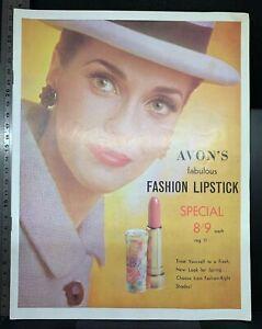 Avon vintage makeup catalogue, lipstick, powder, foundation, c. 1960s