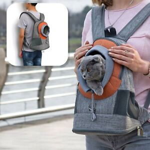Cat Dog Travel Bag Carrier For Small Medium Pets Backpack Breathable Window