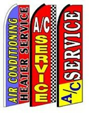 Ac Service   King Size  Swooper Flag Sign  W/Complete 3 Set