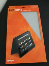 Amazon Fire HD 10 GREY Leather Cover Case Tablet 5th Generation