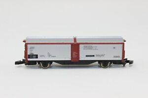 Z Scale Marklin mini-club 8623 DB Silver/Red-brown Sliding Wall Wagon (#8).