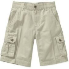 Faded Glory Boys Solid Cargo Shorts Sidewalk Color Size 5 NEW