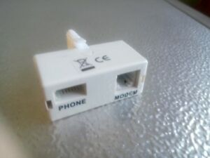 BT TELEPHONE 2 WAY DOUBLER ADAPTOR SPLITER x1 Modem Fax Phone