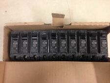 Lot of 10 GE THQL1120 1 Pole Circuit Breaker, 20 Amp Plug-In, New
