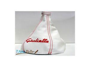 Alfa Romeo Giulietta Shift Boot White Embroidery