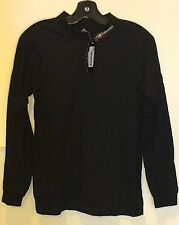 Men's Polaris Long Sleeve Racing Mock Turtle Neck in Black (size S)
