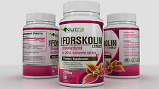 FORSKOLIN EXTRACT COLEUS FORSKOHLII 100% PURE Weight Loss 250mg 20% STANDARDIZED