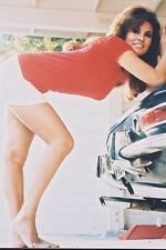 RAQUEL WELCH SEXY LEGGY HOT PANTS BENDING BY CAR POSTER