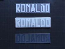 NAME RONALDO REAL MADRID AWAY/THIRD FLOCAGE TRANSFERT SPORTING ID (PACK 20)
