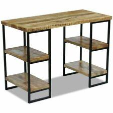 vidaXL Mango Wood Computer Desk Office Home Study Table Steel Frame Industrial