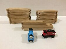 Thomas Wooden 24 Train Tracks Red Caboose and Thomas Train!