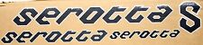 Genuine NOS Serotta Ultra Thin Bike Frame Decals OEM Charcoal / Silver Stickers