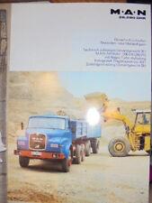 Prospekt Sales Brochure MAN M.A.N 26.280 DHK Muldenkipper LKW Truck Technisches
