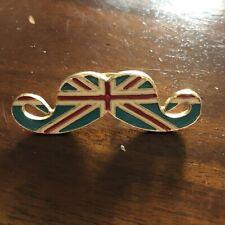 Lindo Diseño de la bandera del Reino Unido Esmaltada bigote inusual declaración Anillo De Moda Talla L/M