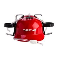 Drinking Hat Helmet Beer Can Adult Party Game Games Soft Drink Guzzler Red New