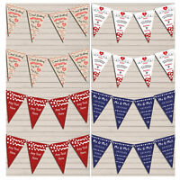 Personalised Wedding Anniversary Bunting Party Flag Banner Garland Decoration