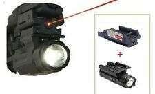 Pistol Laser Sight With Rail and Detachable Flashlight Combo Strobe Function New