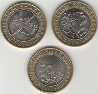 2016 William Shakespeare £2 Coin Set | Bulk Coins | Pennies2Pounds