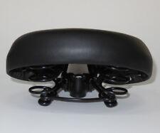 einfacher Sattel, Touren-/ Sport-Sattel, mit Druck-Federn, PU, schwarz