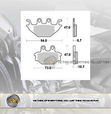 PER ADLY ATV Sport 300 2007 COPPIA PASTIGLIE FRENO ANTERIORI BRAKING SEMI METALL