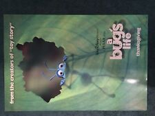 """A BUG'S LIFE MOVIE POSTER-FIRST PRINTING """"THANKSGIVING"""" AT BOTTOM-NM  RARE DISNE"""