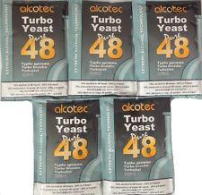5 x Alcotec Turbohefe 48h  Gärhefe Hefe kostenloser versand