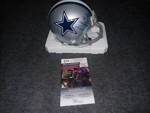 Dak Prescott Signed Mini Helmet Dallas cowboys Jsa