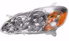 2003 2004 TOYOTA COROLLA (CE, LE) HEADLIGHT HEADLAMP LIGHT LAMP LEFT DRIVER SIDE