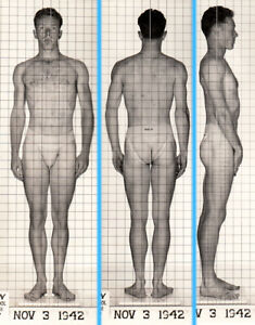 FEMME HIP STUDBOY ~ 1940s 5x7 NAVY ID PHOTO NEAR NUDE JOCK SAILOR MAN gay #220