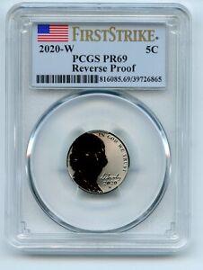 2020 W 5C Jefferson Nickel Reverse Proof PCGS PR69 First Strike