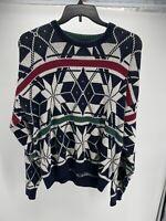 JANTZEN Vintage SNOWFLAKE Winter Ski Wool Sweater Mens Large