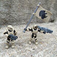 Halo Mega Bloks Set #CNK25 UNSC Fireteam Rhino Figure #1 & 2 With Flag!!