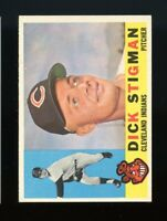 1960 Topps BB Card #507 Dick Stigman Cleveland Indians NR-MINT