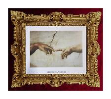 Bild Gemälde Creation of Adam by Michael Angelo Die Erschaffung Adams 45x38 cm