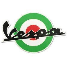 Italian Target Sticker Decal For Vespa 100mm x 70mm Scooter VT1