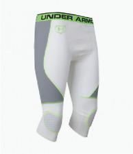 "Under Armour UA Men's Gameday 17"" Long Sliding Shorts 1242252-100 NWT WHITE"