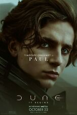 Dune movie poster  - Timothee Chalamet  - 11 x 17 inches