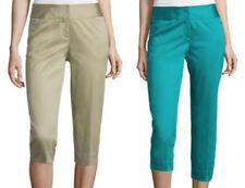 WORTHINGTON SATEEN CROPPED PANTS size 8,14,18 Cotton/Spandex Crop Pant (#F2)